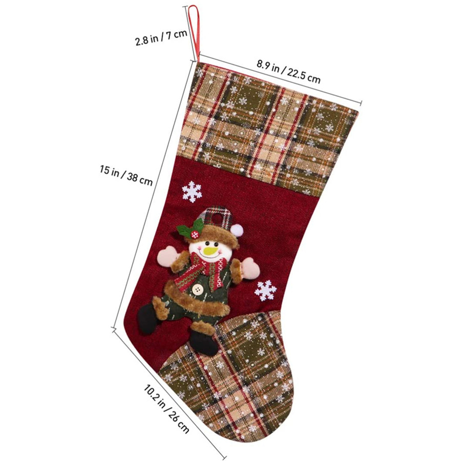 Christmas Stocking, Gift Holders Stocking Christmas Socks Decorations and Party Accessory Set of 3