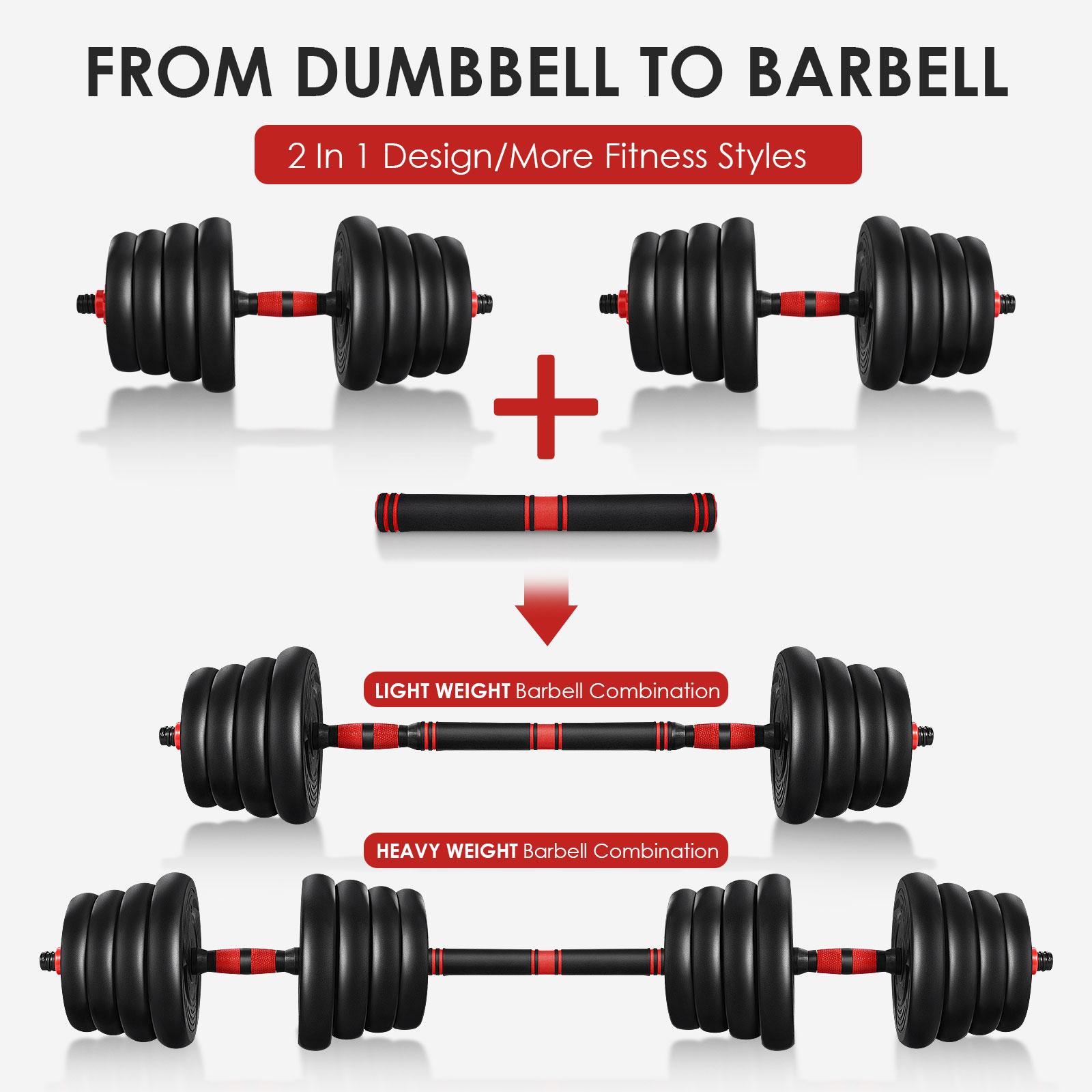 ETEREAUTY Dumbbell Set 30KG,Adjustable Dumbbell Weights Set for Men and Women, Solid Dumbbells Barbell Set for Home Fitness (Connectable)