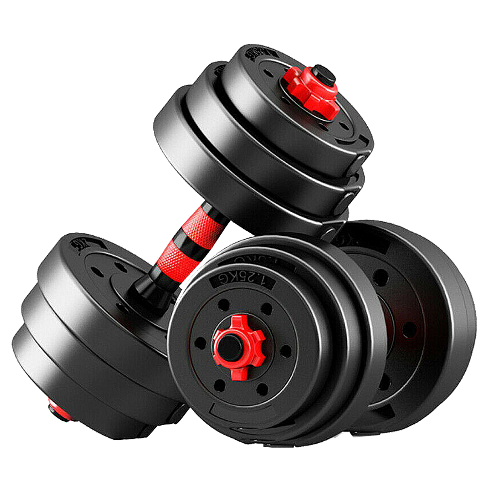 ETEREAUTY Dumbbells Set, Adjustable Solid Weight Dumbbell Set-5/10/15/20/30KG, Hexagon Nut-Safe and Durable Dumbbells with Connecting Rod Anti-Slip for Women Men Fitness,Home Gym Training