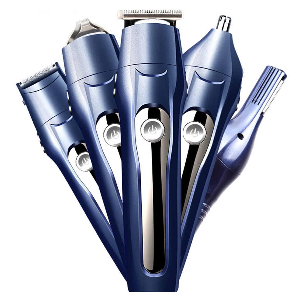 Multifunctional USB Charging Hair Clipper Shaver Body Hair Cutter Lettering Hairclippers Tools With Base