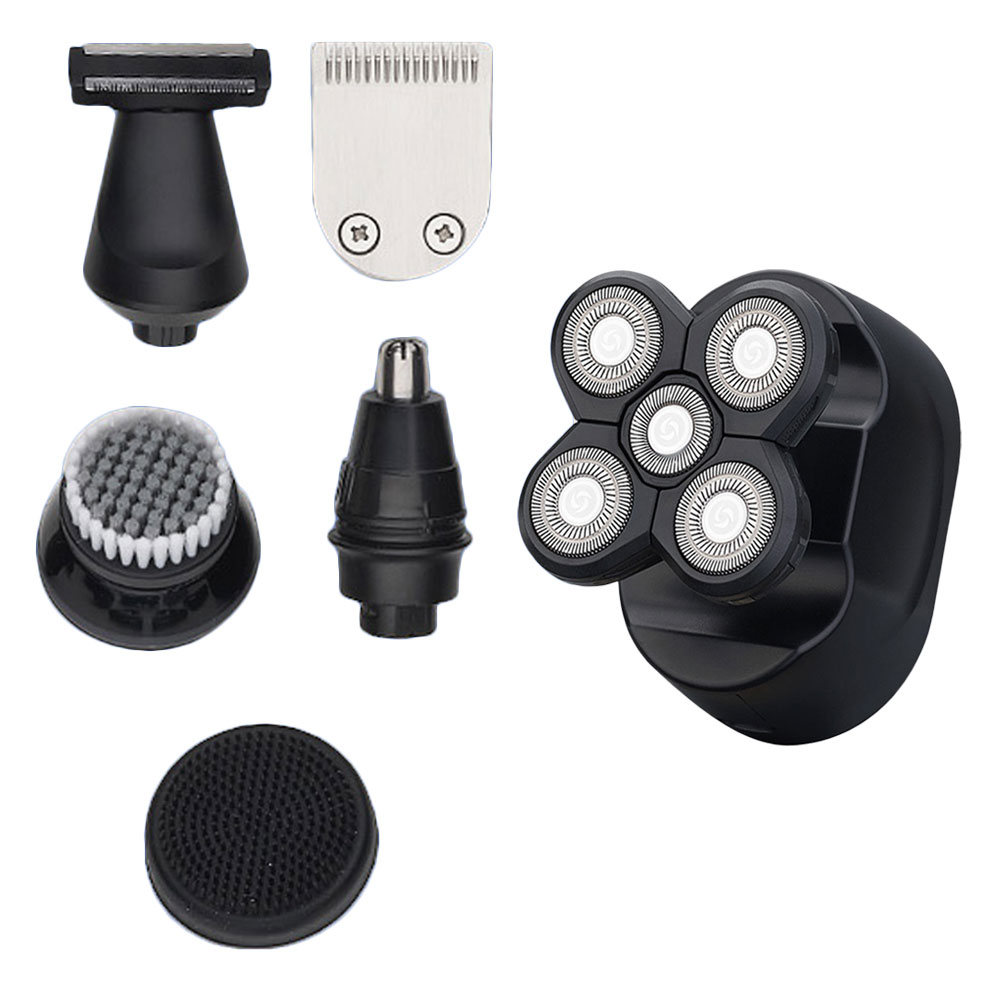 Men Rechargeable Electric Shaver Beard Nose Hair Trimmer Razor Facial Brush