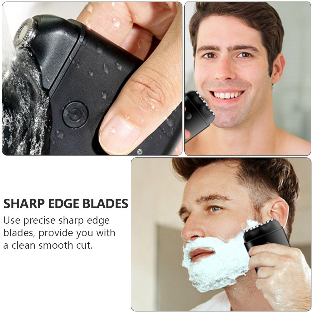 USB Charging Shaver Waterproof Beard Shaver Men Electric Power Shaver(Black)