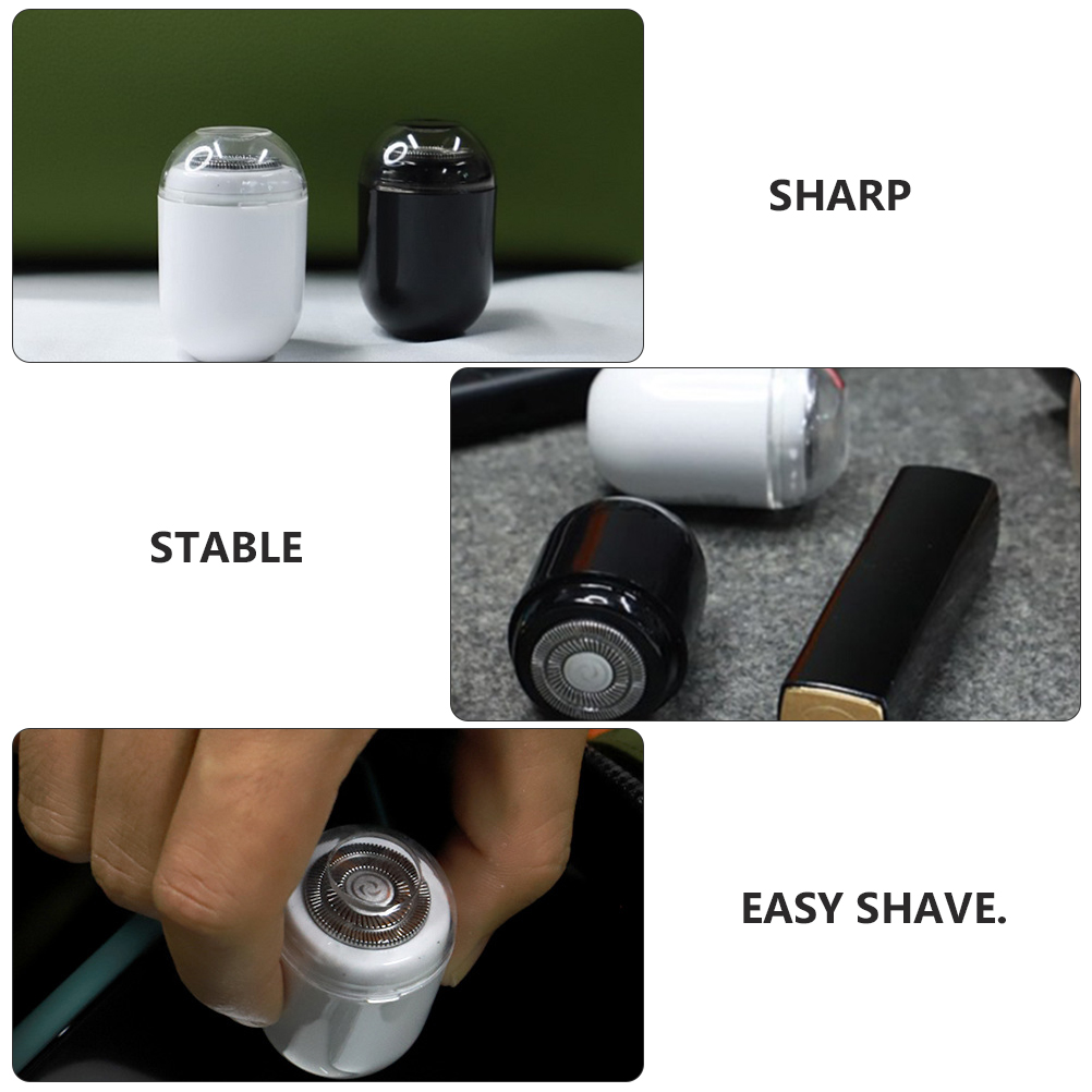 Beaupretty Men Beard Trimmer Electric Cordless Mini Capsule Shaped Hair Trimmer Clipper Mustache Hair Cutting Lettering Body Nose Ear Facial Shaver