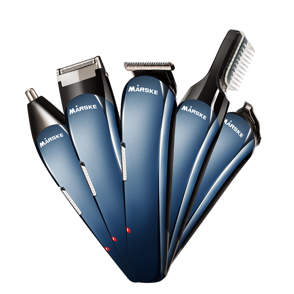 Minkissy Electric Hair Clipper Beard Trimmer Hair Comb Nose Ear Trimmer Hair Cutting Machine Cordless Hair Trimmer Professional Hair Cut (with US Plug)