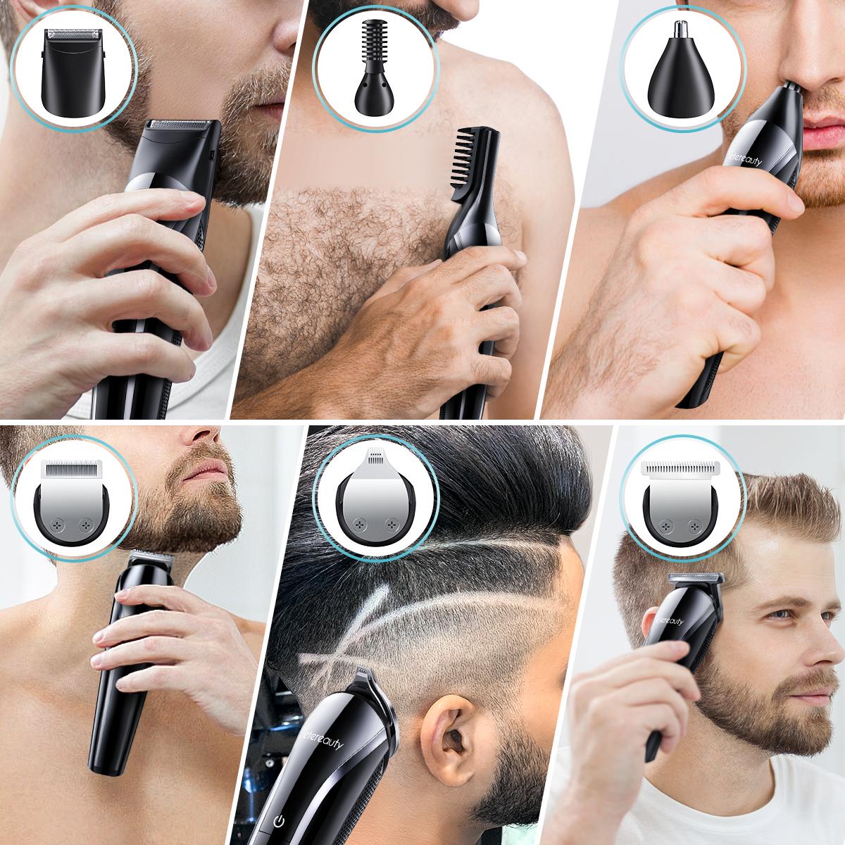 11 In 1 Multi-Functional Grooming Kit, Cordless Beard Trimmer Waterproof Hair Clipper Set