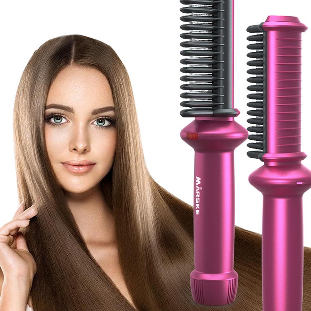 Hair Straightener Brush Ceramic Tourmaline Comb