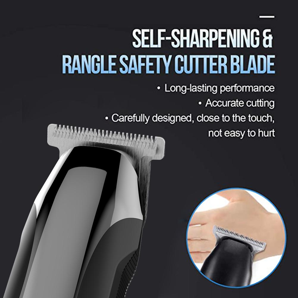 Minkissy Hair Clipper Hair Cutting Kit Rechargeable LCD Display Hair Clipper