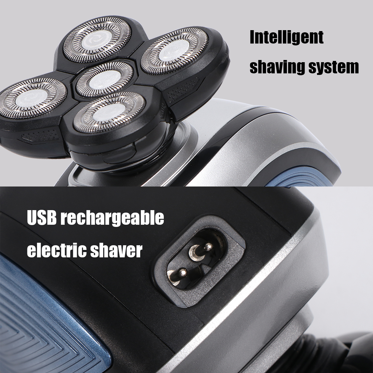 1Set Man Shaver Multifunction USB Cutter Trimmer Shaver for Beard Facial Nose Hair Face Washing