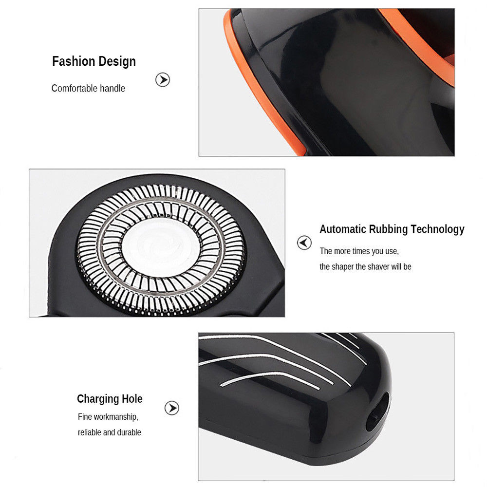 Men Electric Shaver Electric Razor 5 Blades USB Rechargeable Nose Hair Trimmer
