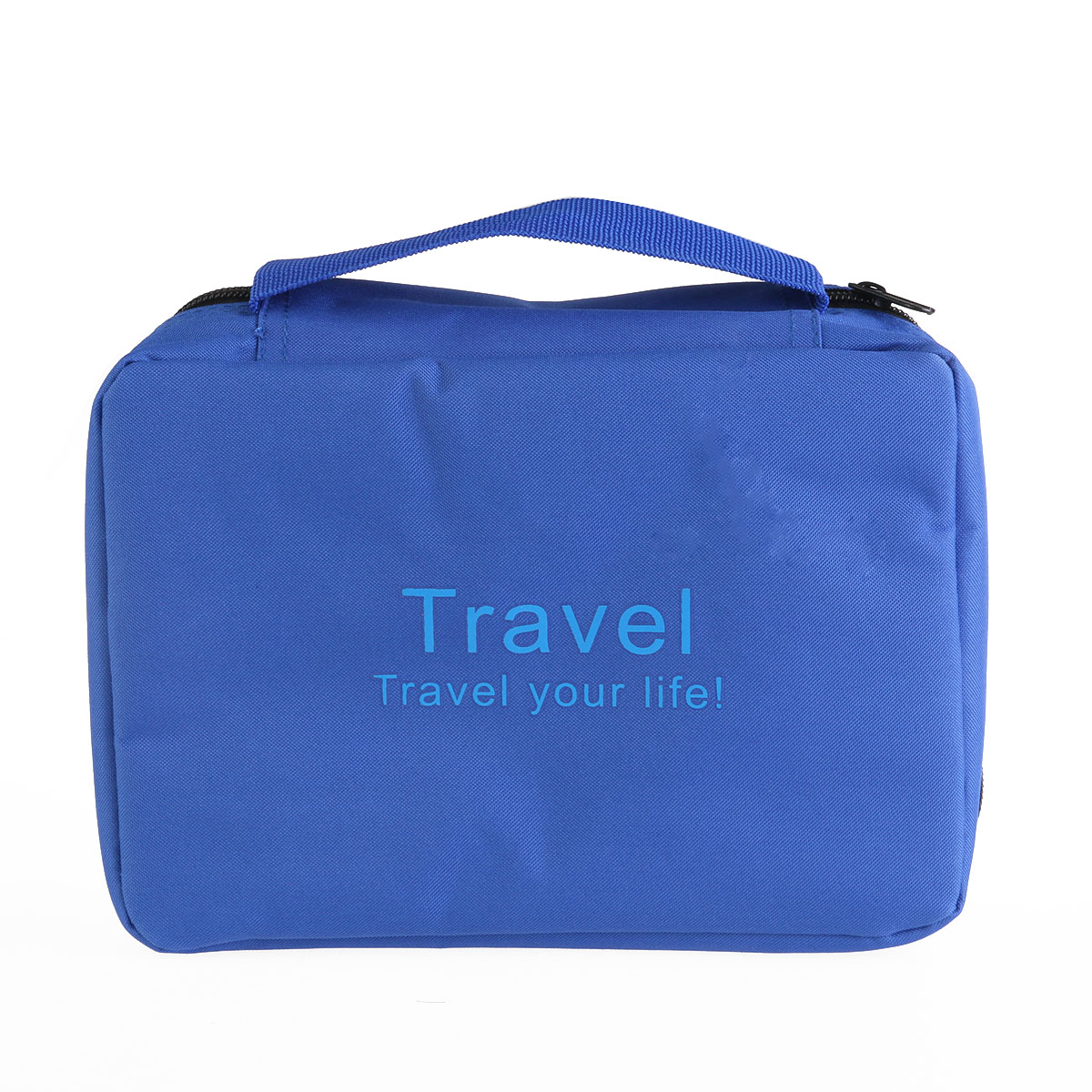 Portable Multi- Function Waterproof Hanging Wash Bag Toiletry Bag Travel Cosmetic Bag Pouch Organizer (Blue)