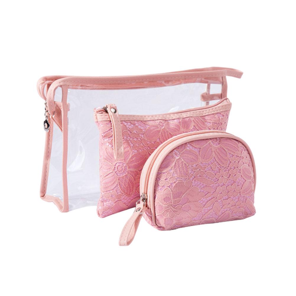 3pcs Women Cosmetic Bag Set Travel Toiletry Bag Organizer