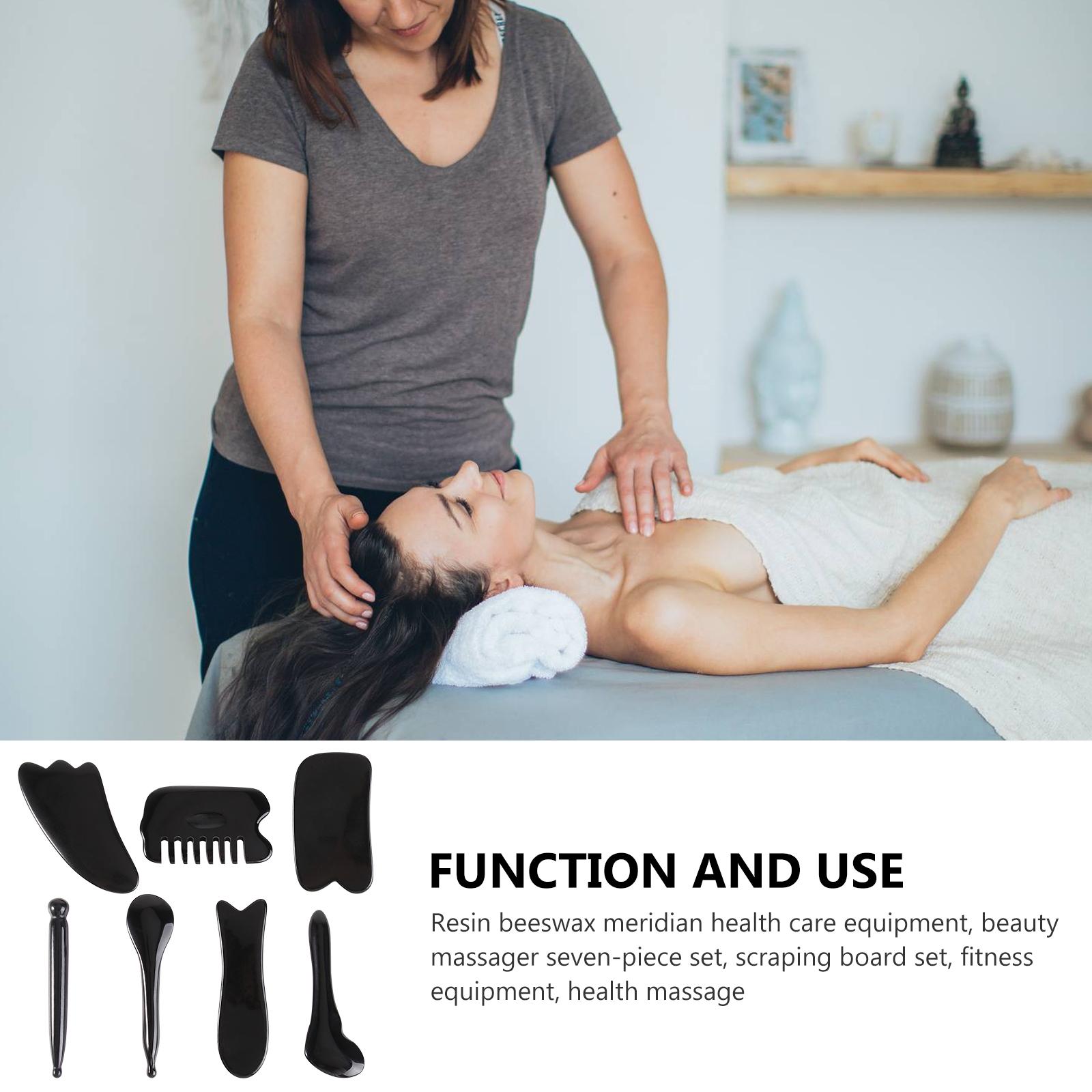 1 Set 7 Pcs Massage Tools Scrapping Massage Board Sets