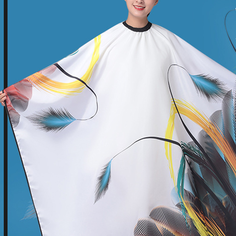 Hair Cutting Capes Waterproof Hair Salon Capes Haircut Apron Barber Gown Hair Salon Tools (Black)