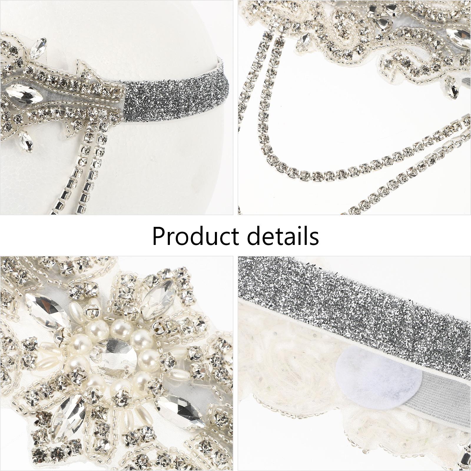 Bridal Rhinestone Headband Wedding Hairband Crystal Headdress Hair Accessory for Long hair and Short Hair