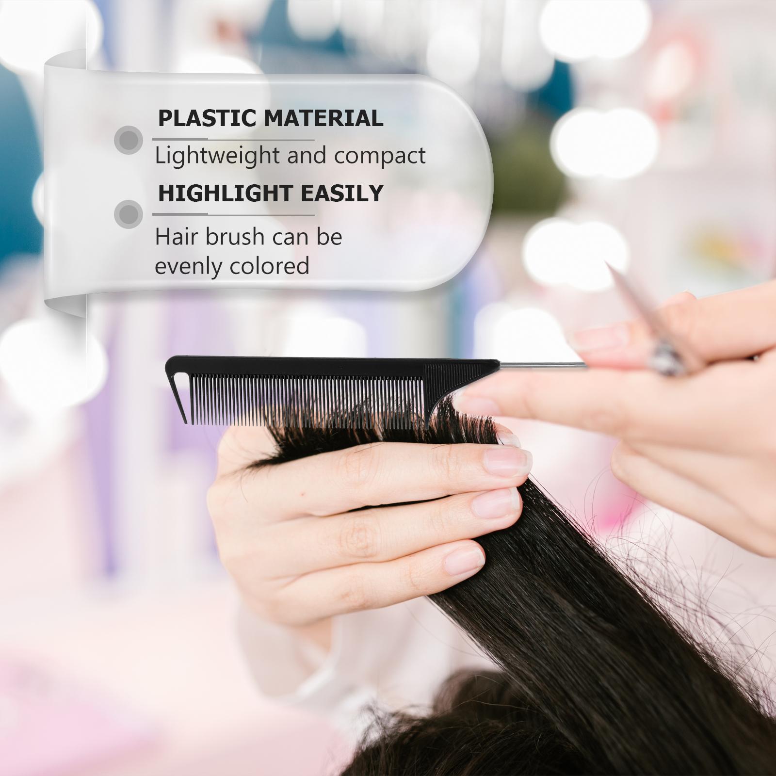 12pcs Hairdressing Comb Rat Tail Comb Parting Comb Salon Hair Comb