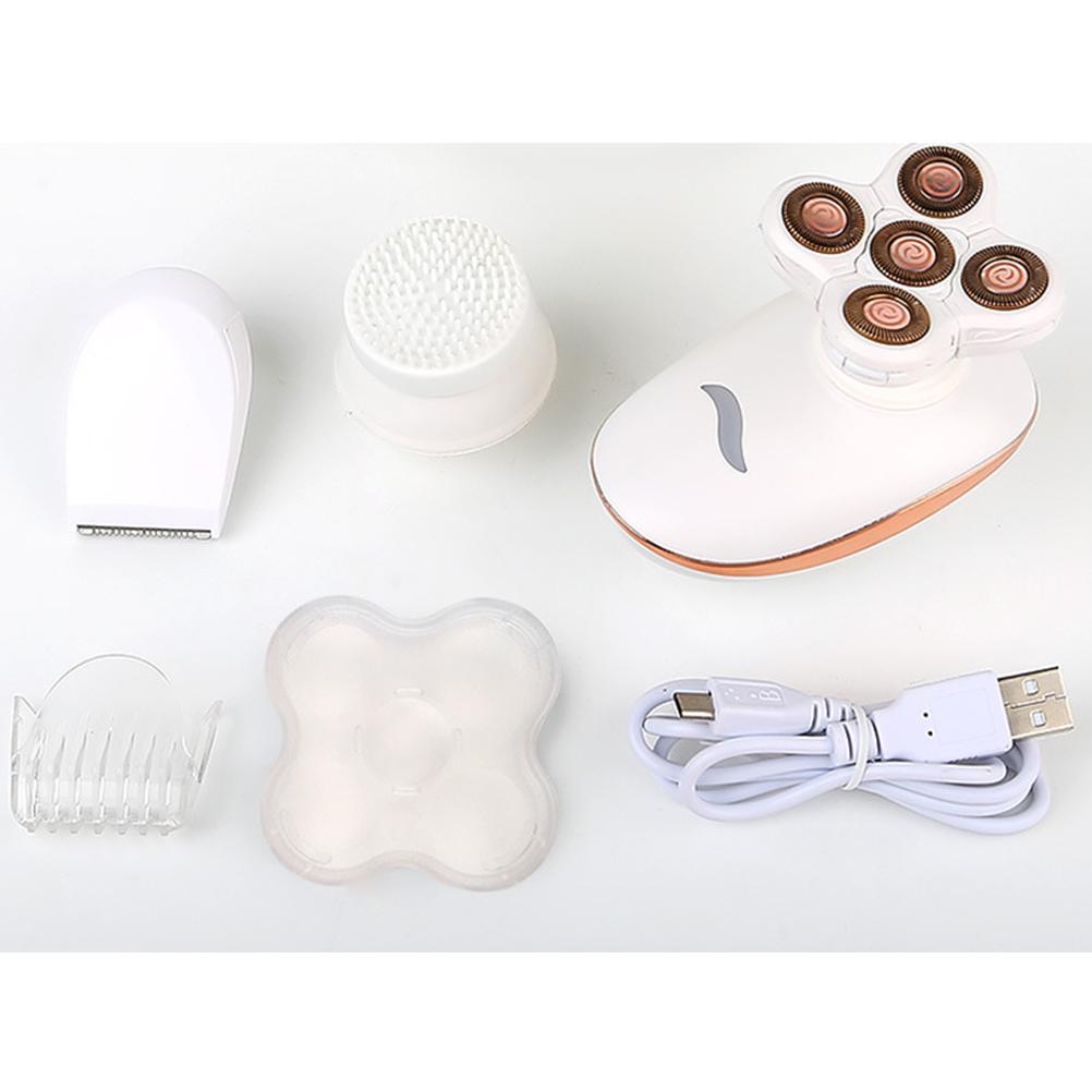 1 Set Women Epilator Hair Removal Waterproof Electric USB Body Hair Bikini Area Trimmer Painless Shaver